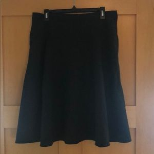 Dark Gray A-line Skirt